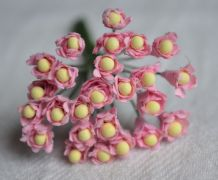 MEDIUM PINK GYPSOPHILA / FORGET ME NOT with Beads Mulberry Paper Flowers